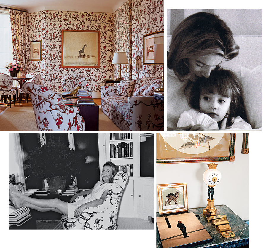 Scene Setter Above Clockwise From Top Left Radziwill S Paris Library Featuring A Peter Beard Photograph As Seen In Elle Decor With Her